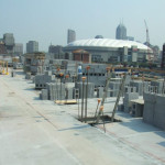 Masonry Walls on Precast Deck -  RCA Dome and Lucas Oil Stadium in Background