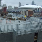 Parapet Framing - RCA Dome in Background